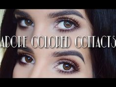 A|D|O|R|E Colored Contacts Review & Youtube Giveaway | ROCYc h e e k s