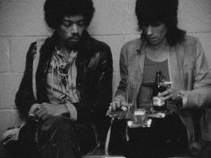Jimi Hendrix and Keith Richards