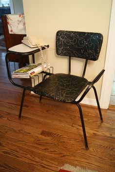 1950's Retro Vinyl Telephone Chair Magazine Rack by MrsVsVintage, $85.00
