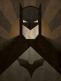 Minimal Heroes Batman print by JeffJanelleArtDesign on Etsy, $15.00