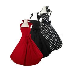 NEW ARRIVAL 3 Colors Side Bow Made-to-Order Retro 50s Pinup Girl Rockabilly Style Dress by After The Rain