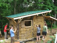 ' straw bale structures' | ... in straw bale building straw bale buildings have been around for over