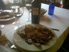 Marqués de Terán con magret de pato confitado en el restaurante Borda Xica (Andorra)