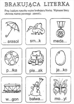 Użyj STRZAŁEK na KLAWIATURZE do przełączania zdjeć Games For Kids, Activities For Kids, Learn Polish, Maila, Cute Coloring Pages, Early Education, Asd, Hand Lettering, Kindergarten