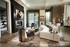 living room with decoration