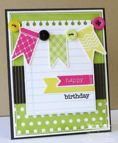 Banner Birthday by mrupple - Cards and Paper Crafts at Splitcoaststampers