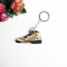 귀여운 미니 실리콘 요르단 5 최고 키 체인 여자 아이 키 반지 선물 운동화 키 홀더 신발 키 체인