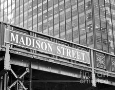 MADISON STREET IN CHICAGO BY BOAT - GREAT ART FOR GIRL NAMED MADISON'S ROOM...