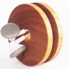 목조 이어폰 홀더, 이어폰 코드 주최자, 헤드폰 케이스, 이어폰 주최자, 나무 코드 홀더, 목재 이어 버드 홀더, 케이블 오거나이저