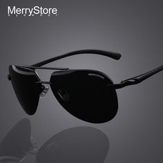 MERRYSTORE Brand Men 100% Polarized Aluminum Alloy Frame Sunglasses Fashion Men's Driving Sunglasses High quality 7 Color