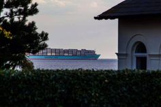 Maersk coming into the Port of Felixstowe
