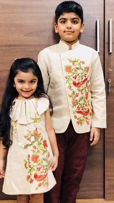 62 Ideas for fashion kids girl outfits jackets Kids Indian Wear, Kids Ethnic Wear, Twin Outfits, Baby Boy Outfits, Kids Outfits, Kids Dress Wear, Dresses Kids Girl, Baby Dresses, Kids Wear Boys
