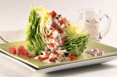 Creamy Blue Cheese &  Bacon Wedge Salad