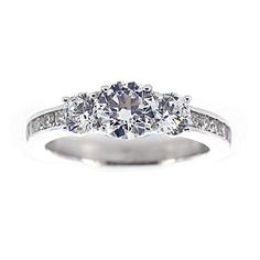jcpenney.com   DiamonArt® Cubic Zirconia Sterling Silver 3-Stone Ring