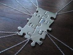 For those of us who have more than ONE best friend. :) How freaking cool. All 6 best friend necklaces piece together.