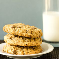 Salted Espresso Oatmeal Chocolate Chip Cookies | Brown Eyed Baker