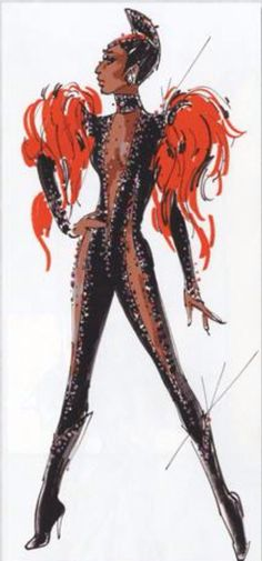 Unidentified Bob Mackie sketch, looks to be for Cher?
