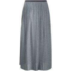 Giorgio Grati Lurex Midi Skirt ($320) ❤ liked on Polyvore featuring skirts, fitted skirt, elastic waistband skirt, calf length skirts, sparkle midi skirt and metallic midi skirt