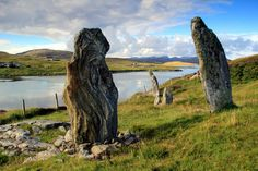 Standing stones near Bernera Bridge, Great Bernera, Outer Hebrides, Scotland by OutdoorMonkey on Flickr