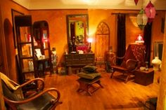 Cowboys and Angels Salon, Seattle.  Very interesting ambiance!