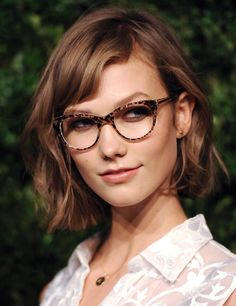 Wasn't sure about bangs and glasses together - but this is convincing me.