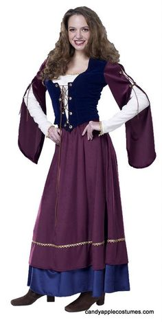 Deluxe Adult Lady Renaissance Costume - Candy Apple Costumes - Deluxe Costumes