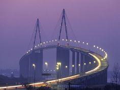 Pont de Saint-Nazaire . Loire-Atlantique . Bretagne ( si,si ) .