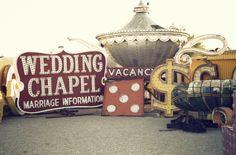 Vintage Vegas neon graveyard