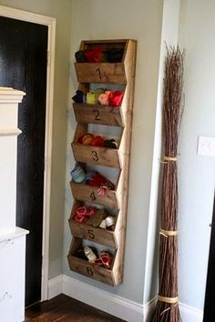 Home Interior Modern For those pretty little shoes. :) Visit this post for more shoe storage ideas perfect for tight spaces!Home Interior Modern For those pretty little shoes. :) Visit this post for more shoe storage ideas perfect for tight spaces! Hat Storage, Corner Storage, Entryway Storage, Laundry Room Storage, Small Storage, Wall Shoe Storage, Shoe Storage For Stairs, Shoe Storage Ideas By Front Door, Storage For Scarves