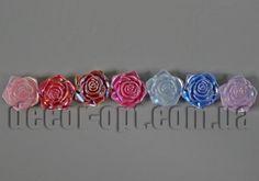 Цветы пластиковые роза с перламутром 18мм/50 шт
