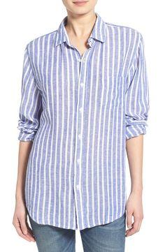 Rails 'Charli' Stripe Linen Blend Shirt