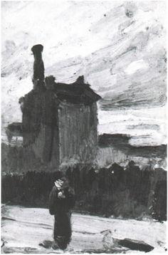 Twilight, before the Storm: Montmartre by Vincent Van Gogh - 631