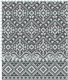 Nice Stitch design for my electronic knitting machine Fair Isle Knitting Patterns, Fair Isle Pattern, Knitting Charts, Knitting Stitches, Knitting Designs, Filet Crochet, Crochet Chart, Fair Isle Chart, Norwegian Knitting