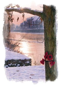 Frozen river in Bewdley Xmas, Civil parishes in England