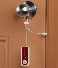 Put your mind at rest with the Belle Hop Travel Alarm. Simply hook it onto the doorway before you hit the sack, and should anyone attempt to force open the door during the night, an 95 db alarm will sound. It also comes equipped with LED flashlight for extra safety in the dark. Starting at $10