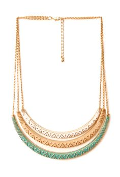 Layered Etched Crescents Necklace | FOREVER21 #Accessories #Necklace
