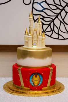 Rachael & Henry had an Ironman / Castle-themed Disney wedding cake! Click here to learn all about Disney wedding cakes! Wedding Cake Prices, Wedding Cake Designs, Wedding Cakes, Mad Hatter Wedding, Blackberry Cake, Fairytale Weddings, Fashion Cakes, Like Chocolate, Cake Flavors