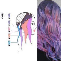 Love the breakdown! #BeautyMob #haircolor #haircolour #peekaboo #tips #howto #excellenthair #stylist #amazingwork #salonstylist #careergoals #Repost @jenniferlopiccolo_llc ・・・ Thought I'd put the breakdown of placement and color together. Remember though, even with the formula and placement there's still much more that goes into achieving this. The lightening process is extremely important. Getting the hair light enough and maintaining its health is . For those interested in learning mo...