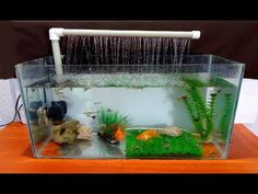 How to make an Aquarium Fountain using a PVC pipe / DIY Fish Tank Coffee Table, Diy Coffee Table, Diy Table, Tropical Fish Aquarium, Diy Aquarium, Aquarium Ideas, Small Fish Tanks, Cool Fish Tanks, Diy Fountain