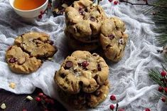 Chewy brown butter cookies laced with cranberries, orange zest, pistachios, and white chocolate chunks