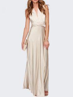 Stylish&concise Off Shoulder Blended Maxi-dress | fashionmia.com