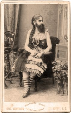 curios, beard ladi, anni jone, freak, bearded lady, odditi, barnum beard, portrait, circus