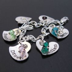 TINY MADISON personalized bracelet with birthstone crystals