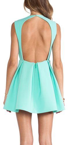 Backless mint skater dress