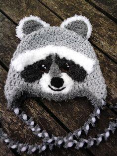 Little raccoon baby hat