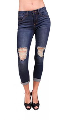 Cello Jeans Women Distressed Boyfriend Jeans with Whisker Details 3 Dark Denim *** Details can be found by clicking on the image. (This is an affiliate link) Jeans Women, Dark Denim, Cello, Boyfriend Jeans, Capri Pants, Skinny Jeans, Link, Image, How To Wear