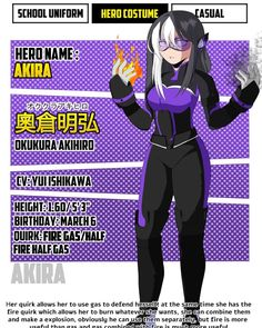 Girls Characters, Hero Academia Characters, My Hero Academia Manga, Super Hero Outfits, Super Hero Costumes, Cool Anime Girl, Kawaii Anime Girl, Superhero Costumes Female, My Hero Academia Costume