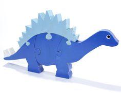 Children's Blue Stegosaurus Puzzle by berkshirebowls $19.99 on Etsy
