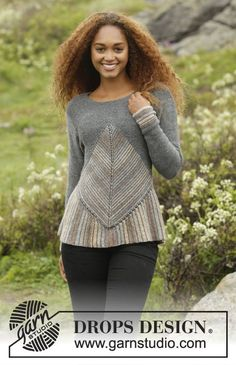 Tauriel by DROPS Design. Awesome jumper - and perfect if you love a challenge! Free pattern Pullover Streifen Tauriel / DROPS - Free knitting patterns by DROPS Design Crochet Patterns Free Women, Knitting Patterns Free, Knit Patterns, Free Knitting, Clothing Patterns, Free Pattern, Tauriel, Drops Design, Crochet Jacket Pattern
