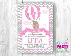 Items similar to Hot Air Balloon Bear ? Hot Air Ballon on Etsy Digital Invitations, Baby Shower Invitations, Birthday Invitations, Air Ballon, Hot Air Balloon, Babyshower, Baby Shower Oso, Gift Suggestions, Future Baby